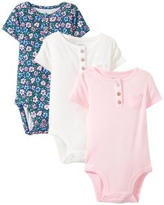 online shopping for Carter's Baby Girls' 3 Pack Bodysuits, Pink/Floral/White, 9 Months from top store. See new offer for Carter's Baby Girls' 3 Pack Bodysuits, Pink/Floral/White, 9 Months Cute Baby Girl Outfits, Little Boy Outfits, Kids Outfits, Baby Girl Fashion, Kids Fashion, Baby Chloe, Carters Baby Girl, Baby Girls, Baby Kids Clothes