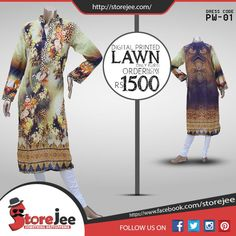 To order visit our facebook page www.facebook.com/storejee #clothes #fashion #Poshaak #Summer #Lawn #ladies #Printed #Unstitched #dress #karachi #pakistan #onlinestore #like #follow
