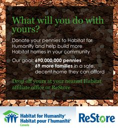 Habitat for Humanity Canada to Collect 690 Million Pennies to Build 69 New Homes