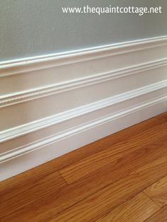 The Quaint Cottage: Stacked Baseboards I need new baseboards all through the house! Home Projects, Home Improvement, Diy Home Improvement, Home Repair, Home Remodeling, New Homes, Home Decor, Moldings And Trim, Home Diy
