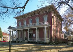 The McKibben-Bonneville House (circa 1870), designed in the Italianate style, is located in the Belle Grove Historic District of Fort Smith, Arkansas.