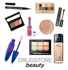"""""""Drugstore Beauty"""" by elisaaa03 ❤ liked on Polyvore featuring beauty and Maybelline"""