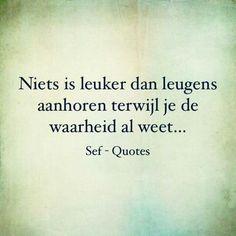 Leugens aanhoren.. Respect Quotes, Wisdom Quotes, Qoutes, Tattoo Sentences, Sef Quotes, Dutch Quotes, Special Quotes, Narcissistic Abuse, True Words