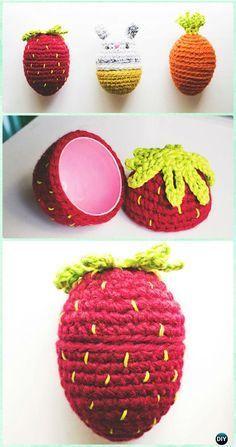 Crochet Bunny Food Easter Egg Free Pattern - Crochet Easter Egg Ideas [Free Patterns]