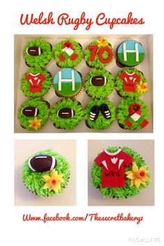 welsh rugby wedding cake topper rugby inspired cupcakes for rehearsal dinner for 27014