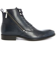776d42b92f90 Solda Navy Laced Boots with Side Zips PAUL AND JOE