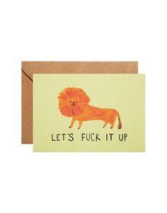 Ohh Deer Lion Card
