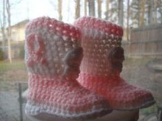 If you haven't learned how to crochet baby booties then you should definitely start out with these adorable Country Cowboy Boots. Next time your little one wants to ride that rocking horse be sure he is saddled up with these boots and a matching hat.