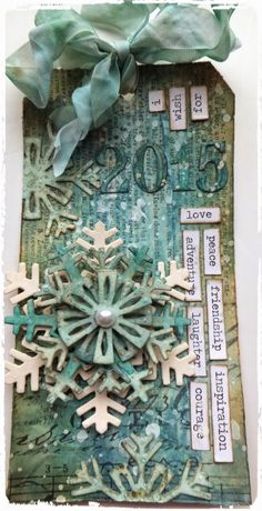 Live The Dream: Tag Monday at A Vintage Journey making Tim Holtz's 12 Tags of 2015 - January