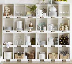clean & neat on open shelves