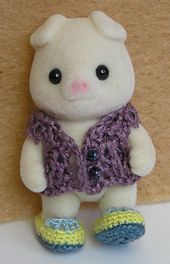 Crochet Slippers for Sylvanian Family Baby -free pattern by Ai Lau