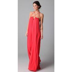 881417eb5d9 BCBGMAXAZRIA The Alisha Jumpsuit found on Polyvore Coral Maxi Dresses