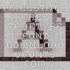 Pixelstitch Free TrueType Font Download - alphabets adaptable for knitting