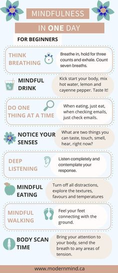 Mindfulness in One Day Self-care mindfulness being mindful purpose in the moment being present meditation for women techniques exercises routine worksheets quotes inspiration motivation activities read more at thislifethi Stress Meditation, Meditation For Beginners, Guided Meditation, Meditation Exercises, Meditation Quotes, Meditation Steps, Meditation Symbols, Simple Meditation, Grounding Exercises