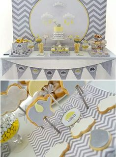 Yellow and Grey baby shower ideas Angel Baby Shower, Baby Shower Signs, Baby Shower Games, Baby Shower Yellow, Gender Neutral Baby Shower, Unisex Baby Shower, Baby Boy Shower, Shower Party, Baby Shower Parties