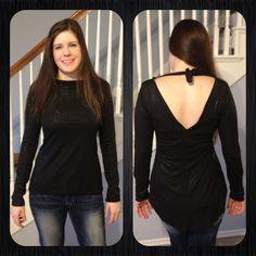Long Sleeve Sparkle Shirt - Amanda Renea Amanda, Sparkle, Long Sleeve, Sleeves, Projects, Shirts, Black, Tops, Dresses