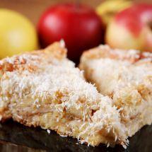Ma recette du jour : Tarte aux pommes et à la noix de coco sur Recettes.net
