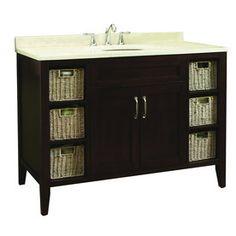 Website Photo Gallery Examples allen roth Tanglewood in x in Espresso Single Sink Bathroom Vanity with Natural Marble Top Bathroom Pinterest Allen roth Bathroom vanities