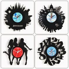 Relojes hechos con discos de vinilo by *PrimerasNecesidades*
