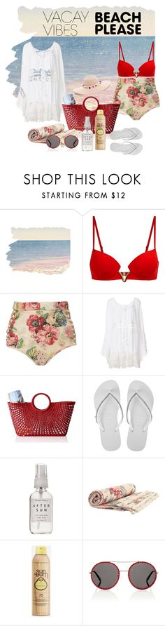 """Let's go to swim"" by edina-omic-zukic ❤ liked on Polyvore featuring La Perla, Zimmermann, Anjuna, Mark & Graham, Havaianas, Herbivore, Sun Bum, Gucci, BeachPlease and vacayoutfit"