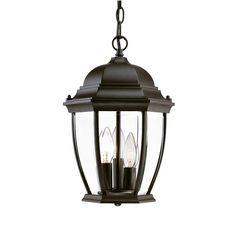 Acclaim Lighting Wexford Collection Hanging Lantern 3-Light Outdoor Matte Black Light Fixture-5036BK - The Home Depot