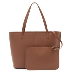 Dana Buchman Parker Leather Tote & Pouch,