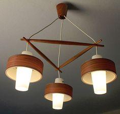 Danish Modern Pendant Lamp Teak Mid Century Eames Wegner Selig Juhl Era 50´S 60