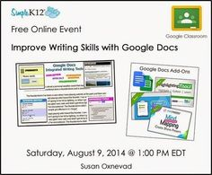 Cool Tools for 21st Century Learners: Free Online Event: Improve Writing with Google Docs   Google Docs for Learning   Scoop.it