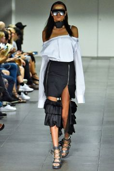 Hood by Air also emphasized the dishabille look during New York Fashion Week Spring/Summer 2016. FIRSTVIEW