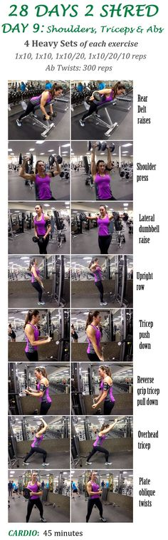 28 DAYS 2 SHRED DAY 9: SHOULDERS/TRICEPS/ABS