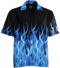 Casual Button Down Shirts, Casual Shirts, Mens Bowling Shirts, Men Shirts, Bowling Outfit, Blue Flames, Teenager Outfits, Western Shirts, Summer Shirts
