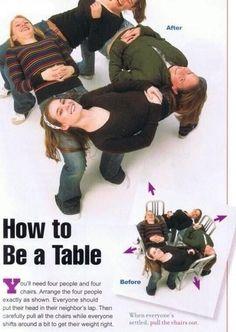Human table