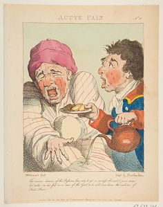 Thomas Rowlandson (British, 1757-1827). Acute Pain (Le Brun Travested, or Caricatures of the Passions), 1800. The Metropolitan Museum of Art, New York. The Elisha Whittelsey Collection, The Elisha Whittelsey Fund, 1959 (59.533.702). #MetonPaper100