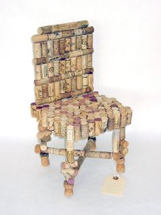 Wine Cork Chair. WHAT ABOUT THIS....A CHAIR TO SIT IN AND DRINK SOME WINE