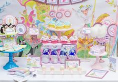 Mary Poppins Vintage Party - PRINTABLE PARTY COLLECTION - Cutie Putti Paperie. $50.00, via Etsy.
