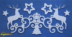 Pracownia Dekoracji ARQ - DECOR - Dwa Renifery + Gwiazdki (2017) dekoracje świąteczne (NA ZAMÓWIENIE)