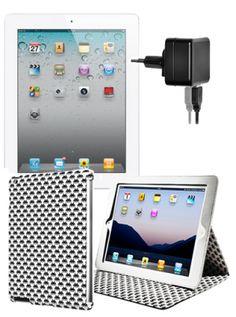 BUNDLE: IPAD 2 WI-FI 3G 32GB BIANCO + 2 CUSTODIE CASE SCENARIO + ABSOLUTEPOWER ALIMENTATORE DA PARETE