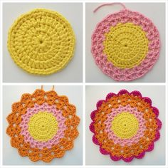 Ideas Mandalas para atrapasueños en crochet ⋆ Manualidades Y DIY Beau Crochet, Crochet Mignon, Crochet Diy, Love Crochet, Crochet Crafts, Yarn Crafts, Crochet Flowers, Beautiful Crochet, Crochet Projects