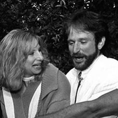 Barbra Streisand and Robin Williams