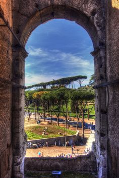HDR looking out from the Colosseum, Rome, Italy #LiveLaughExplore
