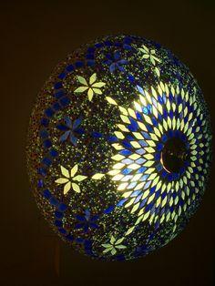 Prachtig deze Blauwe plafonniere