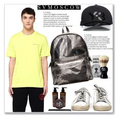 """Svmoscow #3"" by lejla-7 ❤ liked on Polyvore featuring Gosha Rubchinskiy, Hawkins & Brimble, Y-3, Ann Demeulemeester, Golden Goose and Uppercut"