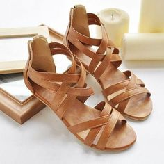 2015 summer flat women's wedges platform shoes solid color open toe large plus size 40-43 sandals female flat heel
