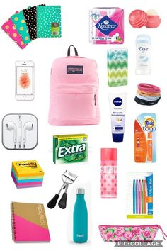 Middle School Supplies, Middle School Hacks, Back To School Supplies, High School, Bag To School, School Kit, School Goals, Prep School, School Emergency Kit