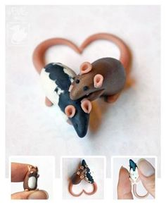 Little Love Dime Rats made of #polymer #clay (i gotta make a little charm like this of my #rats !) // deviantART