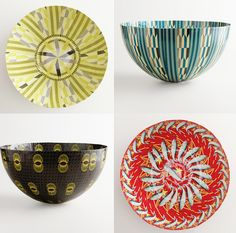 """""""From the minute I saw these paper mache bowls from South Africa at World Market, I LOVED them.  The bowls are made by Wola Nani, a non-profit organization that employs women with HIV and AIDS so that they may support themselves and their families"""" 5-minute African pendant lamp DIY"""