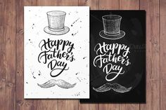 Happy Father's Day Cards by Epine on @creativemarket