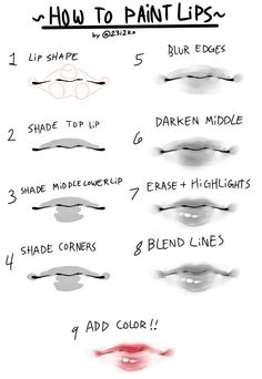 a quick n simple tutorial for how to paint cute lips