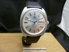 IWC Electronic Stimmgabeluhr Stahl Tag / Datum Top Zustand Lederband - Iwc, Smart Watch, Electronics, Tags, Leather Cord, Wrist Watches, Smartwatch