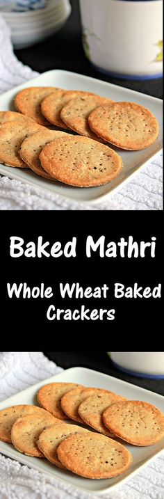 Baked Mathri, Whole Wheat Crackers, bursting with flavors, healthy tea-time snack..